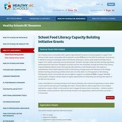 School Food Literacy Capacity Building Initiative Grants
