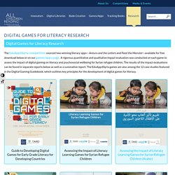 Digital Games for Literacy Research - All Children Reading: A Grand Challenge for Development