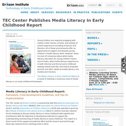 Media Literacy in Early Childhood Report