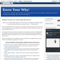 Digital Literacy & Citizenship Resources