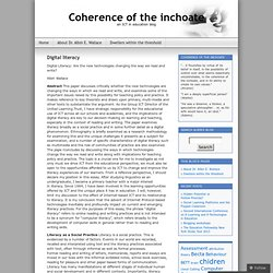 Digital literacy « Coherence of the inchoate