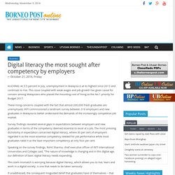 Digital literacy the most sought after competency by employers