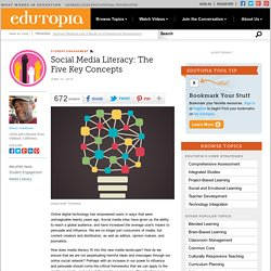 Social Media Literacy: The Five Key Concepts