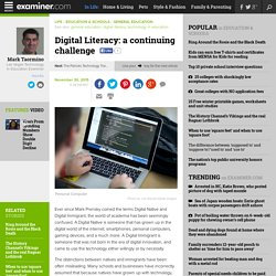 Digital Literacy: a continuing challenge