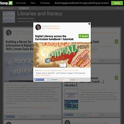 Digital Literacy across the Curriculum handbook | futurelab | Libraries and literacy