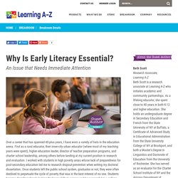 Early Literacy is Essential for Opportunity - Learning A-Z