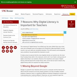 7 Reasons Why Digital Literacy is Important for Teachers - Blog