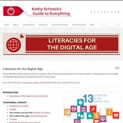 *Kathy Schrock: Literacies in the Digital Age