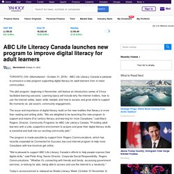 ABC Life Literacy Canada launches new program to improve digital literacy for adult learners