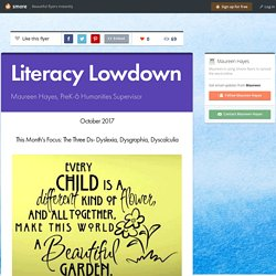 Literacy Lowdown- Dyslexia