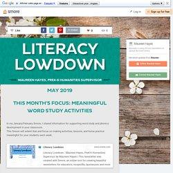 Literacy Lowdown- Word Study Activities