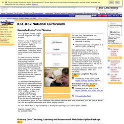 English & Literacy KS1 & KS2 : national curriculum