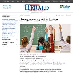 Literacy, numeracy test for teachers