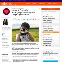Literacy Through Photography for English-Language Learners