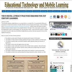 The 8 Digital Literacy Practices Required for 21st Century Learners