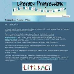 Literacy Progressions