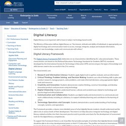 Digital Literacy - Province of British Columbia