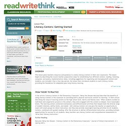 Literacy Centers: Getting Started
