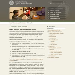 Digital Literacy Resource - A Guide To Doing Research Online