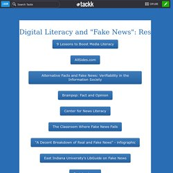 "Digital Literacy and ""Fake News"": Resources to Help You Help Your Students"