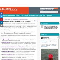 Ten Digital Literacy Resources for Teachers