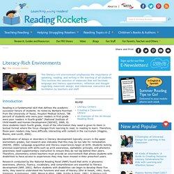 Literacy-Rich Environments