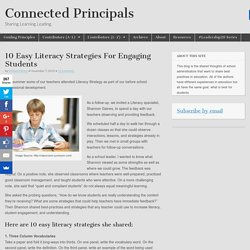 10 Easy Literacy Strategies For Engaging Students