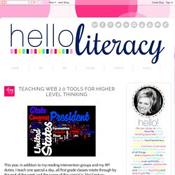 Hello Literacy: Teaching Web 2.0 Tools for Higher Level Thinking