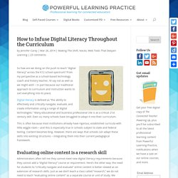 How to Infuse Digital Literacy Throughout the Curriculum