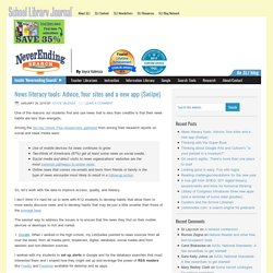 News literacy tools: Advice, four sites and a new app (Swiipe)
