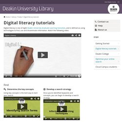 Digital literacy tutorials