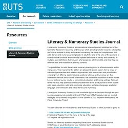 Literacy & Numeracy Studies Journal