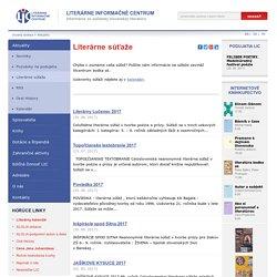 Literárne súťaže - Literárne informačné centrum