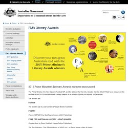 PM's Literary Awards - Ministry for the Arts
