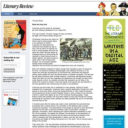 Literary Review - Timothy Brook on Christopher Columbus and Vasco da Gama