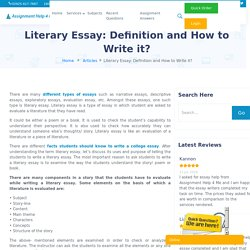 Literary Essay: Definition and How to Write it?