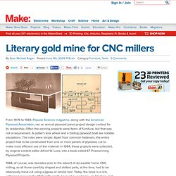 Literary gold mine for CNC millers