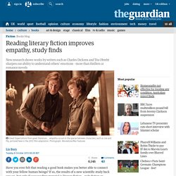 Reading literary fiction improves empathy, study finds