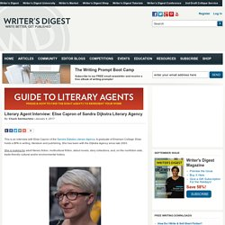 Literary Agent Interview: Elise Capron of Sandra Dijkstra Literary Agency
