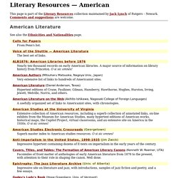 Literary Resources
