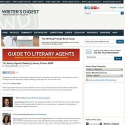 13 Literary Agents Seeking Literary Fiction NOW