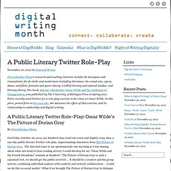 A Public Literary Twitter Role-Play - Digital Writing Month