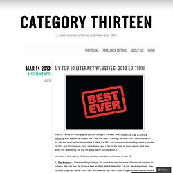 Top 10 Literary Websites: 2013 edition!