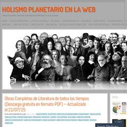 Obras Completas de Literatura de todos los tiempos (Descarga gratuita en formato PDF) – Actualizado al 06/09/15 – Optimizado al 05/09/2015