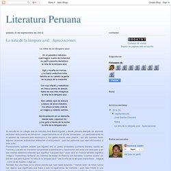 Literatura Peruana: La niña de la lámpara azul . Apreciaciones