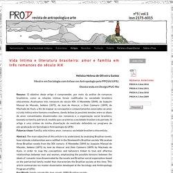 Vida íntima e literatura brasileira: amor e família em três romances do século XIX