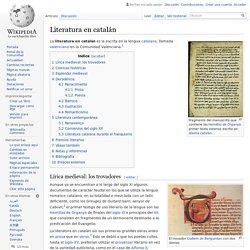 Literatura en catalán