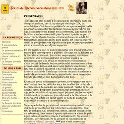 literatura catalana de 1833 a 1931