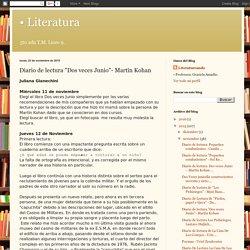 """Literatura: Diario de lectura """"Dos veces Junio""""- Martín Kohan"""