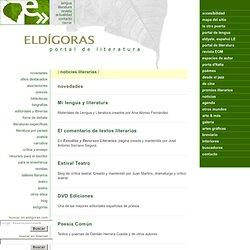 Portal de literatura, en eldigoras.com: recursos en internet.